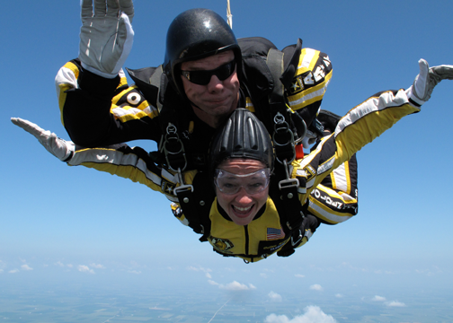 IL State Rep Susana Mendoza Sky Diving