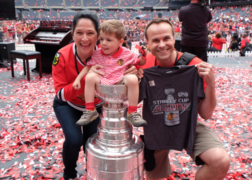 Susana Mendoza and Family Blackhawks Celebration
