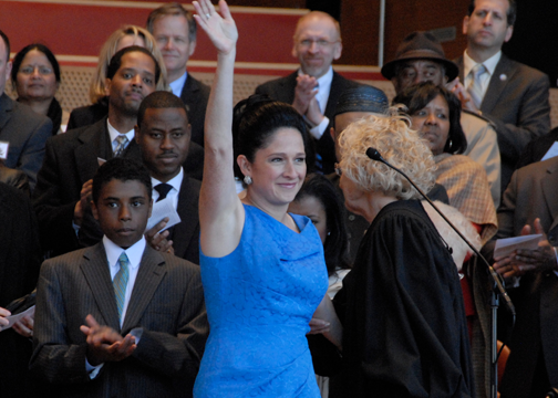 City Clerk Susana Mendoza 2011 Inaguration