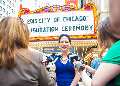 City Clerk Susana Mendoza 2015 Inaguration