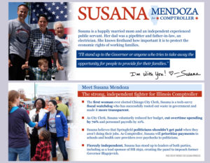 Susana Mendoza for Illinois Comptroller Walk Card