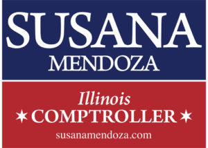 Blue & Red Lawn Sign Susana A. Mendoza