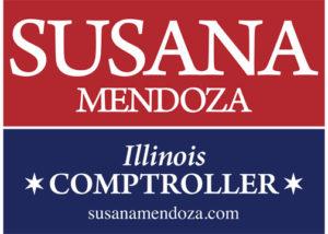Red & Blue Lawn Sign Susana A. Mendoza