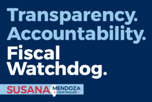 Susana A. Mendoza Illinois Comptroller Window Sign Back