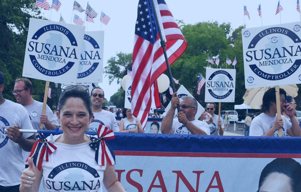 Evanston 4th of July Parade Susana A Mendoza